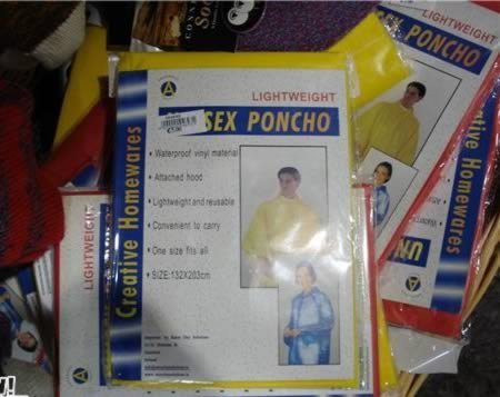 Ticket on poncho