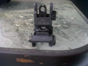 A.R.M.S Rear flip sight