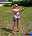 Tif shooting her Walther P22
